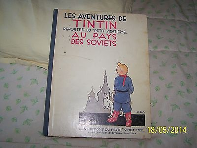 BD TINTIN AU PAYS DES SOVIETS 1981
