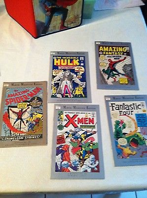Marvel Milestone lot. X-men 1, Hulk 1, amazing fantasy 15, fantastic four 1.Nice