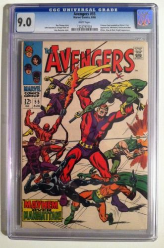 Avengers #55 CGC 9.0 1st Appearance of Ultron Super Key Issue