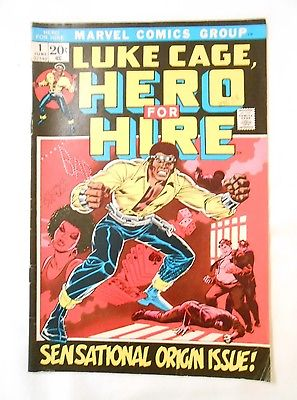 RARE Luke Cage Hero for Hire Marvel comic book June 1972 No 1 First issue