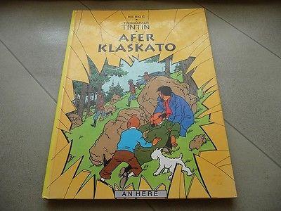 Rare BD album Tintin en BRETON Afer Klaskato L'Affaire Tournesol 1er Tirage 1997