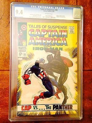 Tales of Suspense #98 (Feb 1968, Marvel) CGC 9.4 Black Panther cover app