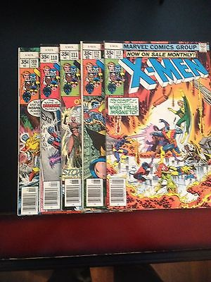 Uncanny X-men # 109,110,111,112,113 - Fine/Very Fine Condition