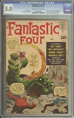 FANTASTIC FOUR #1 CGC 5.0 CR/OW PAGES // ORIGIN/1ST APPEARANCE OF FANTASTIC FOUR