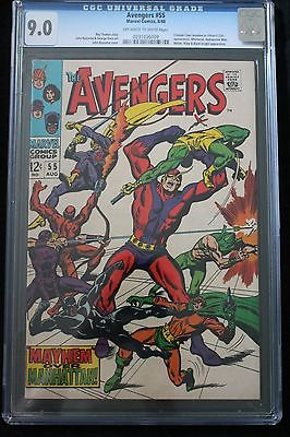 Avengers 55 First Ultron CGC 9.0 OW/W Pages Beautiful Book