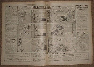 COEURS VAILLANTS 1931 N°11 TINTIN ET MILOU AU PAYS DES SOVIETS - FANTOME