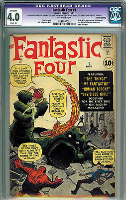 FANTASTIC FOUR #1 CGC APPARENT 4.0 OFF-WHITE PAGES SILVER AGE 1ST APPEARANCE