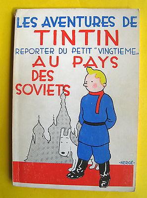 TINTIN HERGE  TINTIN AU PAYS DES SOVIETS  BROCHE NB EDIT SPLENDEUR BE