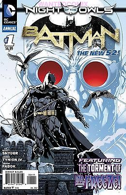 BATMAN ANNUAL #1 2012 DC NEW 52 COMIC BOOK NIGHT OF THE OWLS COMIC BOOK ISSUE 1