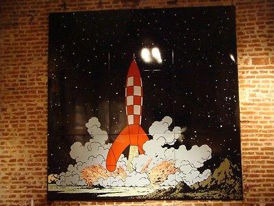 (¯`*• 9 Plaques émaillées Tintin on à marché sur la lune  .•*´¯)