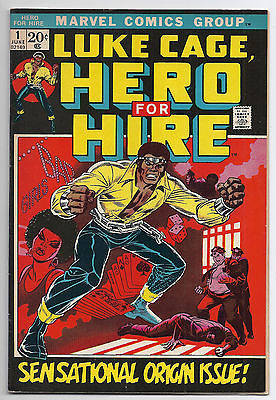 MARVEL LUKE CAGE # 1 HERO FOR HIRE SENSATIONAL ORGIN ISSUE NICE COMIC BOOK