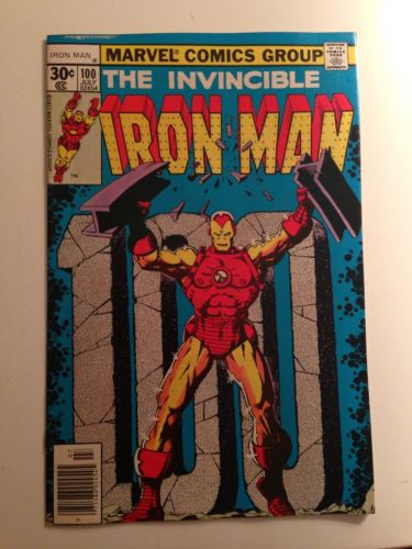 Iron Man #100 (Jul 1977, Marvel)/Anniversary Issue/VF-