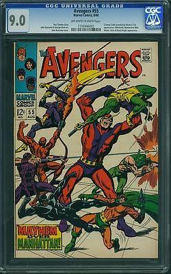 Avengers #55 CGC 9.0 OW/WH (1st app Ultron-5)