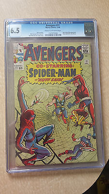 Avengers #11 CGC 6.5 Cream to OW Pages Co-Starring: Spider-Man - 'Nuff Said