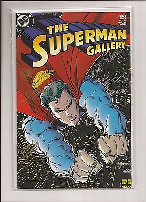 The Superman Gallery #1 Signed by SIX artists COA