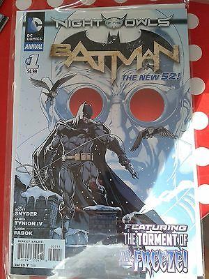 BATMAN ANNUAL #1 (NIGHT OF THE OWLS) DC NEW 52 F- VF 1st Print