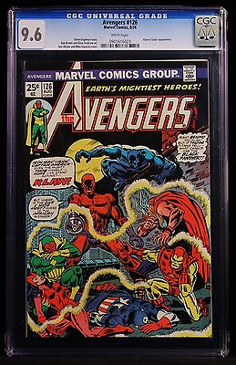 1974 MARVEL COMICS AVENGERS #126 CGC 9.6 WHITE PAGES HIGH GRADE THOR IRON MAN