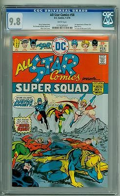 ALL-STAR COMICS #58 CGC 9.8 FIRST POWER GIRL WHITE PAGES