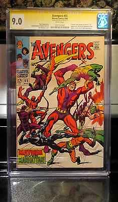 AVENGERS #55 (1968) CGC SS 9.0 SIGNED BY STAN LEE 1ST ULTRON WHITE PAGES NR