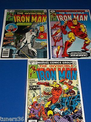 Iron Man #125,126,127 Bronze Age Run of 3 FVF to VF+ Antman