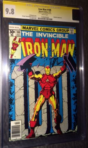 SS CGC 9.8 NMM Iron Man 100 Sgnd By Starlin (Avengers Thor Captain America) 7/77