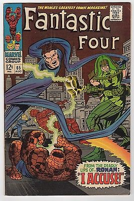 FANTASTIC FOUR #65 (1967) FN/FN+ (6.0-6.5) FIRST APP. OF RONAN THE ACCUSER