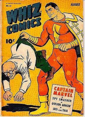 WHIZ comics 57 Captain Marvel Fawcett C C Beck Spy Smasher Ibis Golden Arrow gd