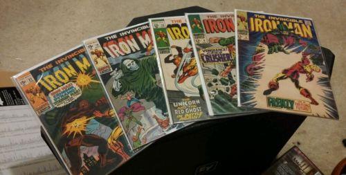Lot Silver Age The Invincible Iron Man Marvel #5 #6 #15 #19 #22 Ungraded Comics