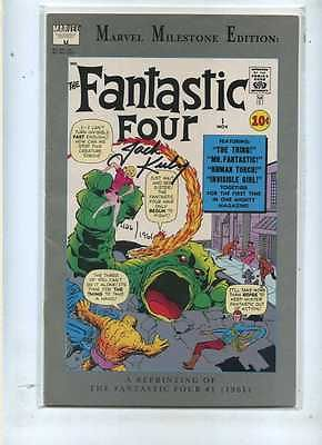 Fantastic Four 1 Marvel Milestone signed by Jack Kirby with Dynamic Forces COA