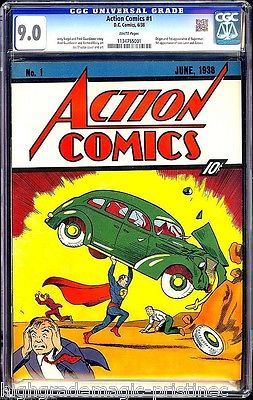 Action Comics #1 (June 1938) Superman's Debut, CGC 9.0 - Perfect White Pages