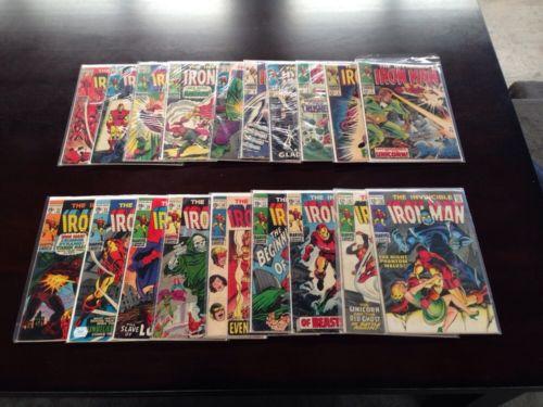 THE INVINCIBLE IRON MAN -1968 Comic Book RARE LOt #s 4 - 22 - NR