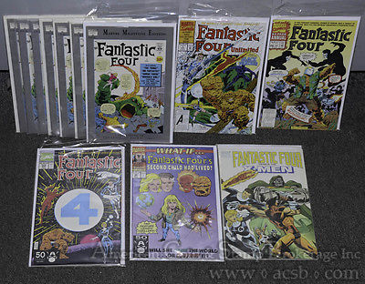 Marvel Comics Fantastic Four Related Annuals Unlimited Milestone Xmen #1 Lot.