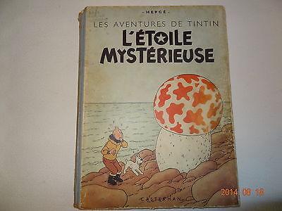 bd ancienne EO Tintin l'étoile mystérieuse B1 de 1946  Hergé