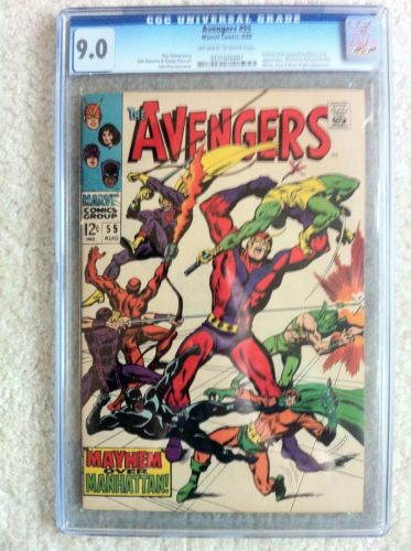 AVENGERS #55 CGC 9.0 OFF WHITE TO WHITE PAGES 1ST APPEARANCE OF ULTRON MOVIE