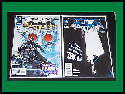 BATMAN ANNUAL 1 & 2, NIGHT OF THE OWLS, MR. FREEZE, NEW 52, ZERO YEAR, NM LOT