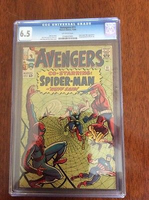 Avengers #11 CGC 6.5  Early Spider-Man Crossover