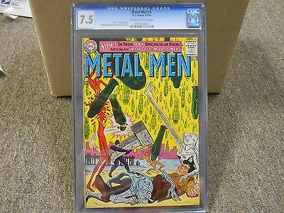 Metal Men 1 cgc 7.5 DC comic RARE 1963 c/ow pages CENTERED NO write date etc