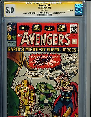 Avengers 1 UK CGC 5.0 Signed by Stan Lee Great Affordable Marvel Key