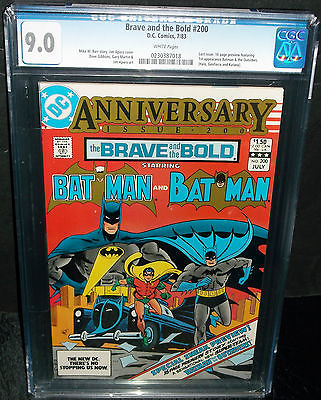 BRAVE AND THE BOLD #200 CGC 9.0 LAST ISSUE, 1ST BATMAN OUTSIDERS PREVIEW DC 1983