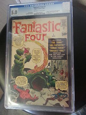 Fantastic Four #1 (Nov 1961, Marvel) CGC 5.0 VERY GOOD FINE ORIGIN FIRST APP LEE