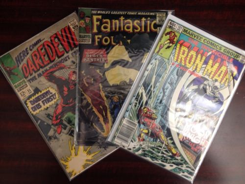 Marvel Comic Lot - Fantastic Four, Iron Man, Daredevil (ID#: 1-45-52-55-300)