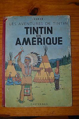 TINTIN EN AMERIQUE-B1-1946-EO Couleur-Copyright 1945-BON ETAT