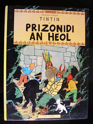 Hergé/TINTIN/LE TEMPLE DU SOLEIL en Breton.EO1989,intérieur comme neuf.