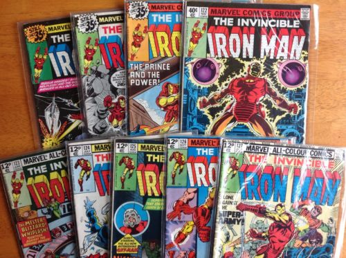 Iron Man 119,120,121,122,123,124,125,126,127. run of nine bronze age classics