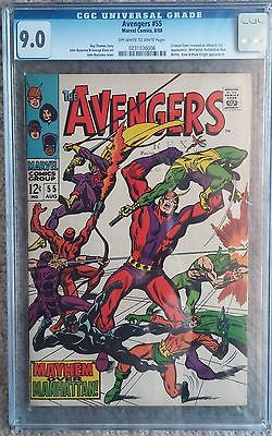 The Avengers #55 (Aug 1968, Marvel) CGC 9.0 1st Ultron