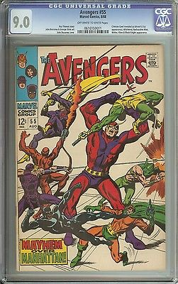 AVENGERS #55 CGC 9.0 OW/WH PAGES // 1ST APPEARANCE OF ULTRON
