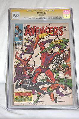 The Avengers #55 (Aug 1968, Marvel) CGC SS 9.0 SIGNED BY STAN LEE 1ST ULTRON