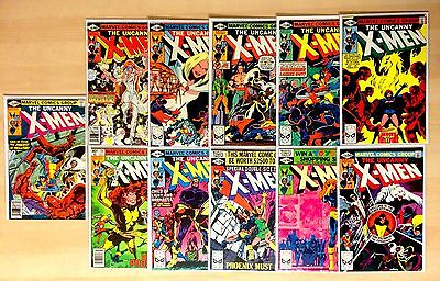 Uncanny X-Men 129 130 131 132 133 134 135 136 137 138 139 DARK PHOENIX SET VF NM