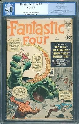 Fantastic Four 1 PGX 4.0 OW/W Silver Age Key Marvel 1st App Fantastic Four L K
