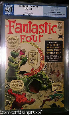 FANTASTIC FOUR #1 PGX 4.0 VG 1st FANTASTIC FOUR & MOLE MAN app MOVIE COMING SOON